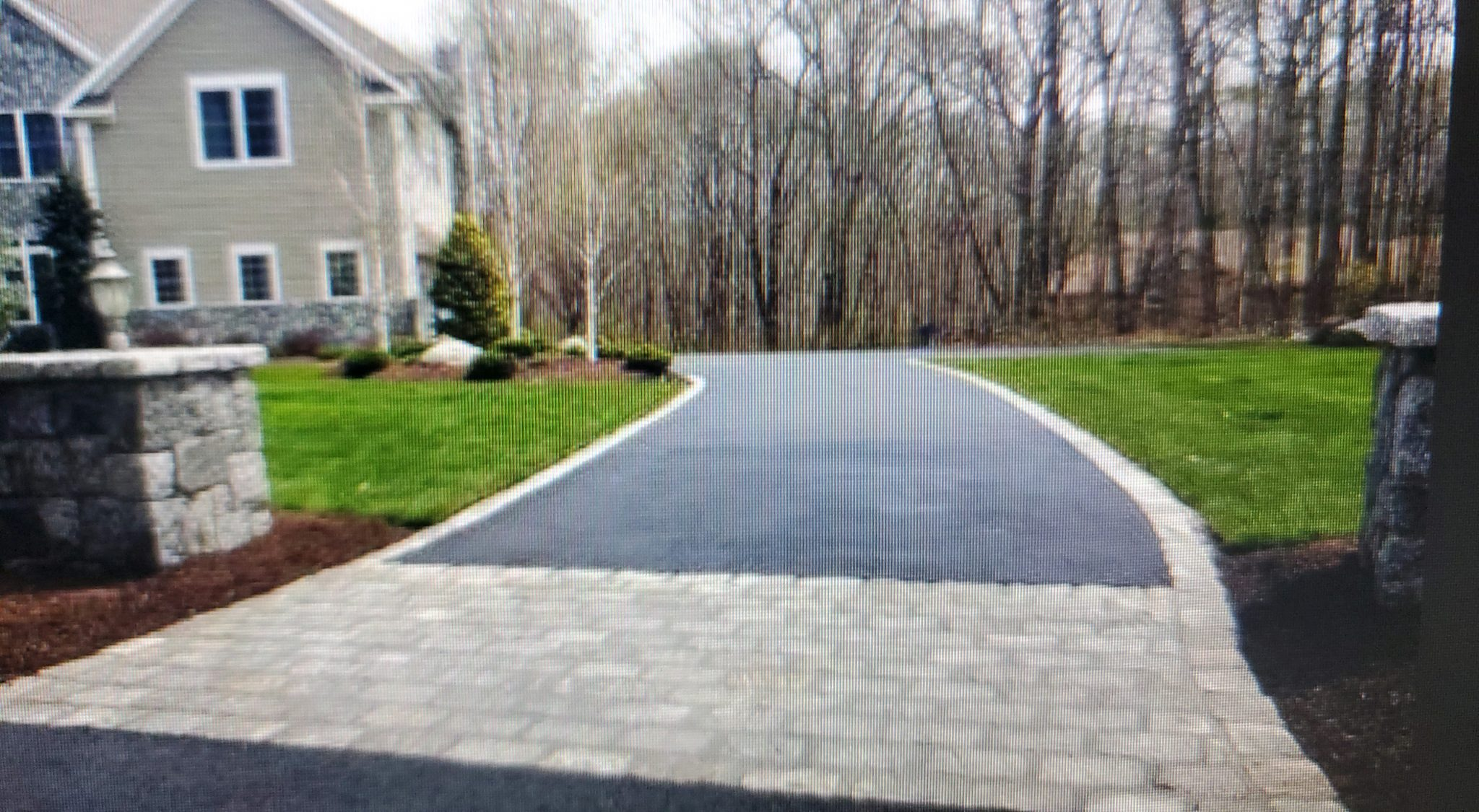 Paver and Asphalt Driveway